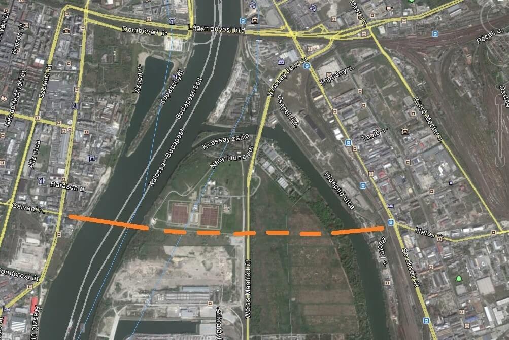 Elrajtolt az új budapesti híd tervpályázata