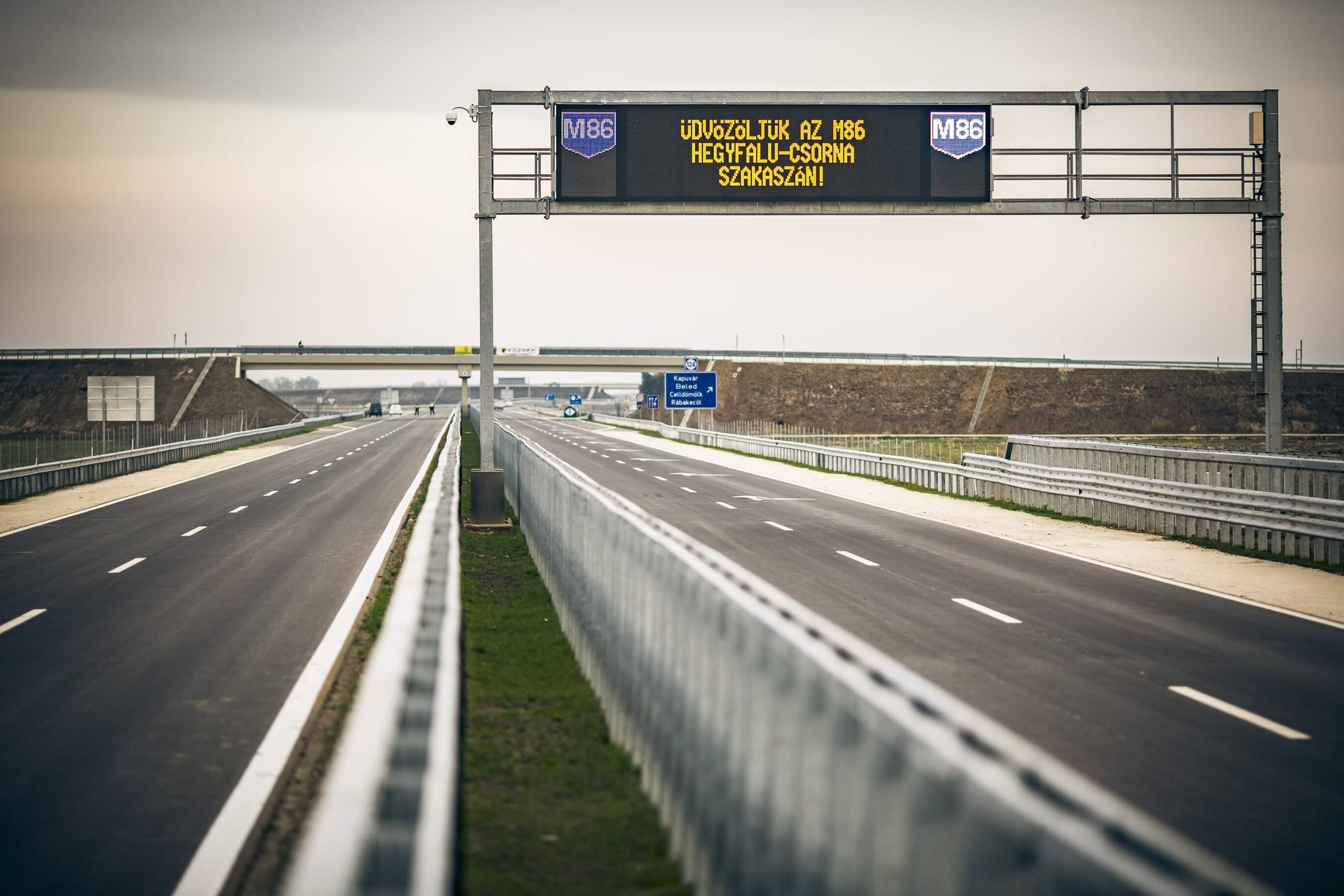 Elkészült az M86-os: Szombathely gyorsforgalmi úton is elérhető