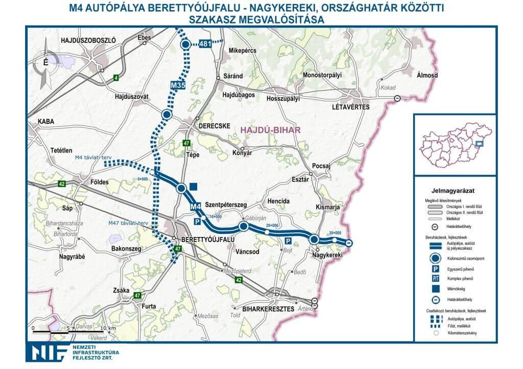 m4 autópálya térkép Keleten is elindult az M4 es kivitelezése, megépül a hiányzó