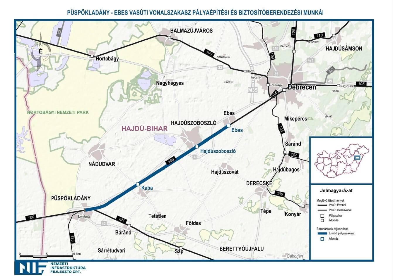 szajol térkép Elrajtolt a 73 milliárdos hajdúsági vasútfejlesztés | Magyar Építők szajol térkép