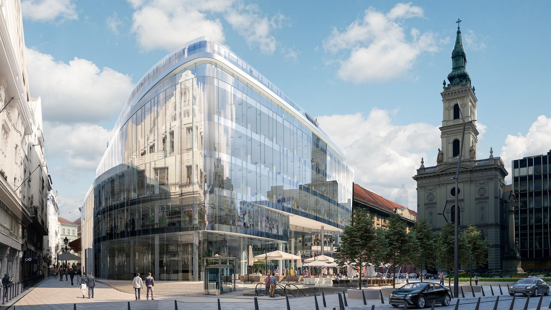 Tizenkét szintes, légies épületet emelnek Budapest szívében