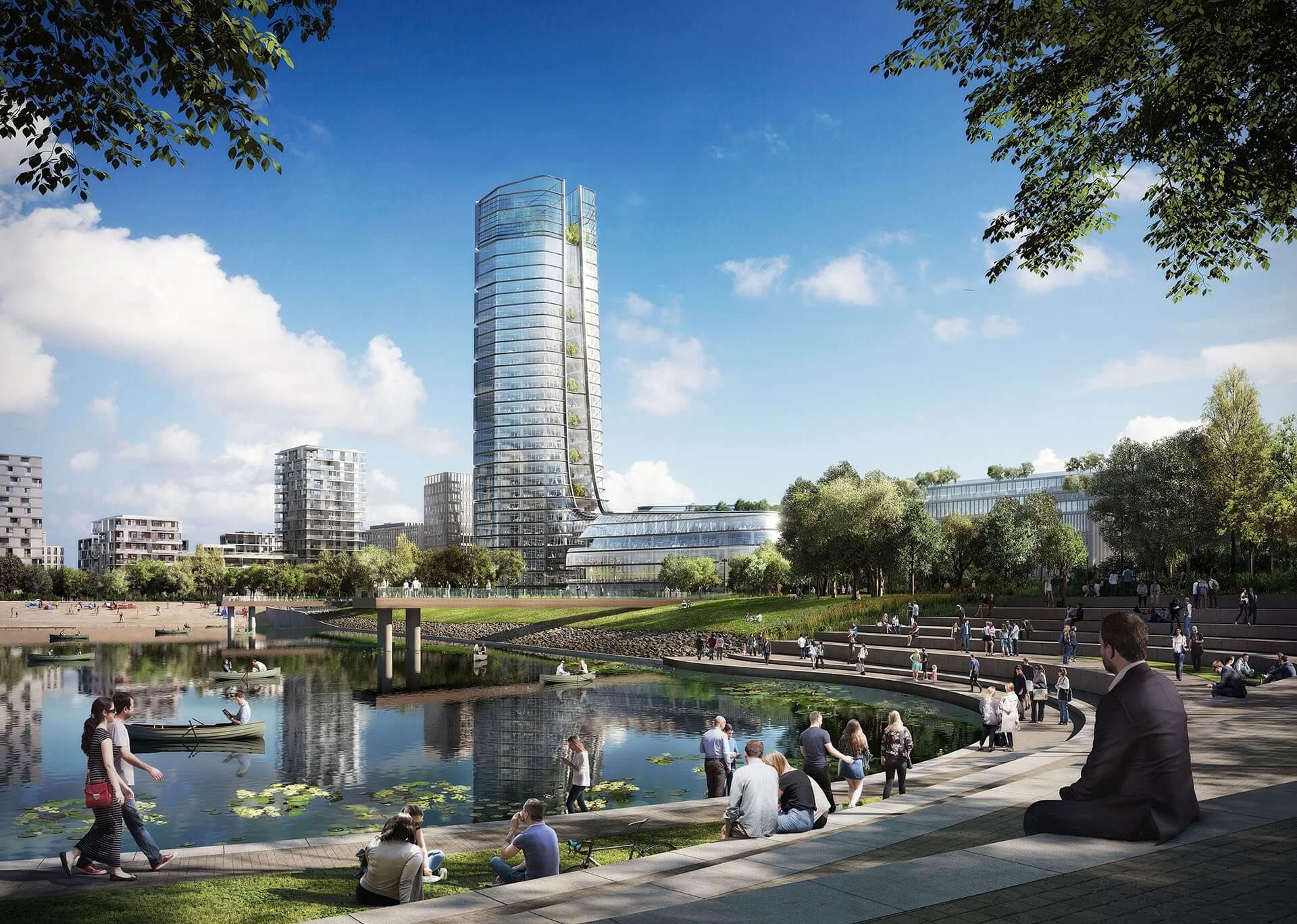 Több mint 100 méter magas lesz a MOL új budapesti központja