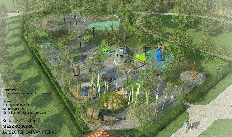 Különleges közösségi park született Óbuda családias övezetében