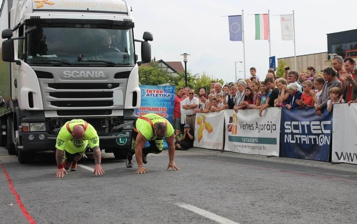 25 tonnás kamionokat is elhúznak a HE-DO Kupa erősemberei