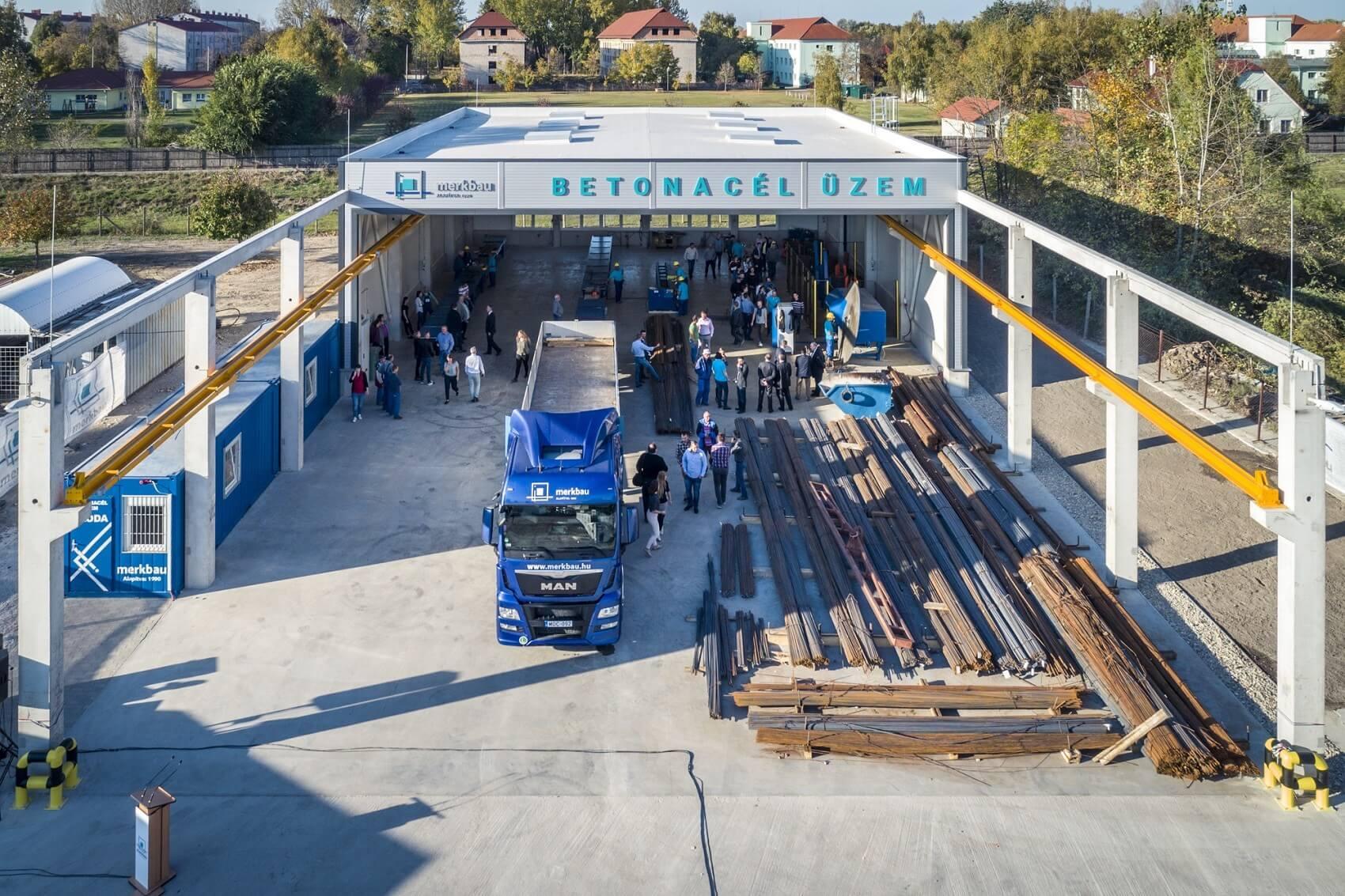 Új betonacél üzemmel reagált a Merkbau az ágazat növekedésére