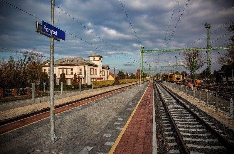 Már csak a befejező munkálatok maradtak a dél-balatoni vasútberuházásban