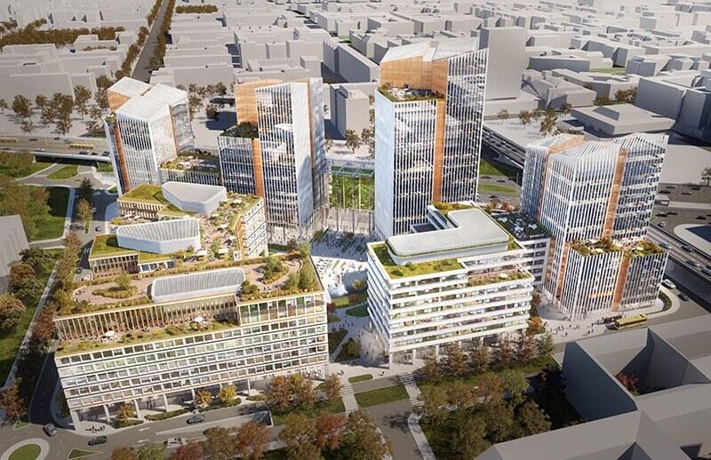 Zöld városrészt építenek 2022-re az Árpád-híd lábánál