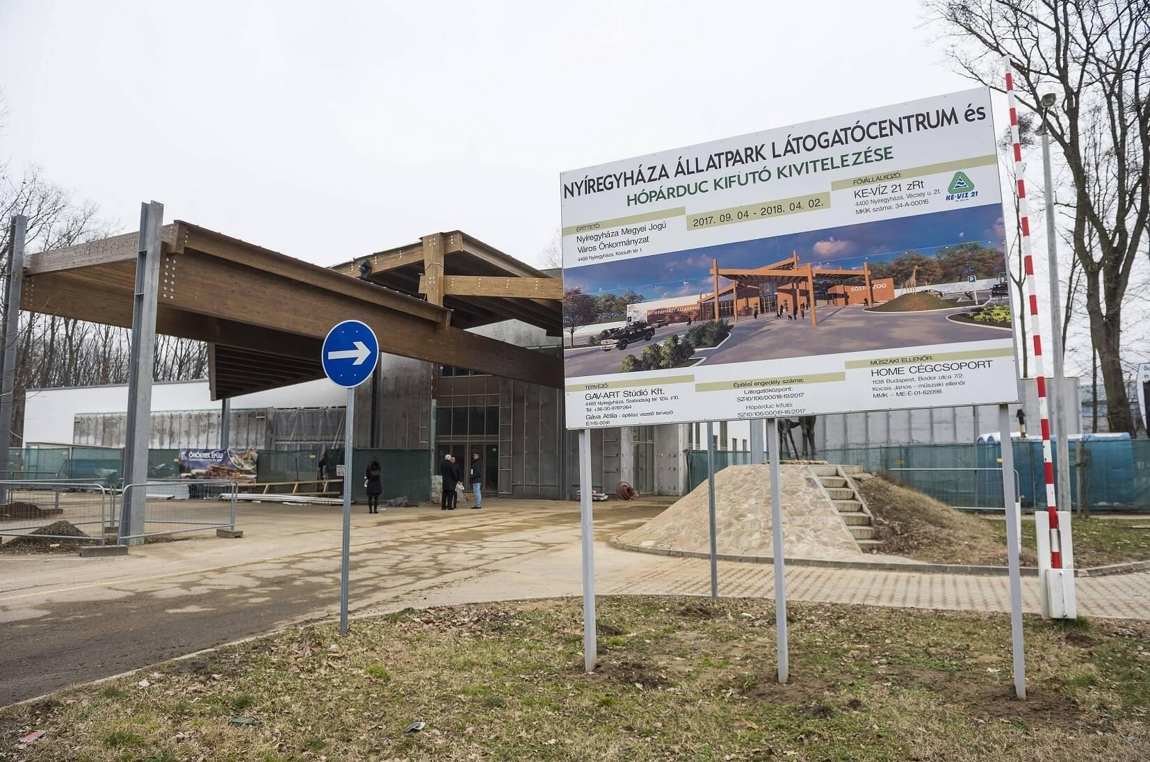 Húsvétra felépíti a nyíregyházi állatkert látogatócentrumát a Ke-Víz