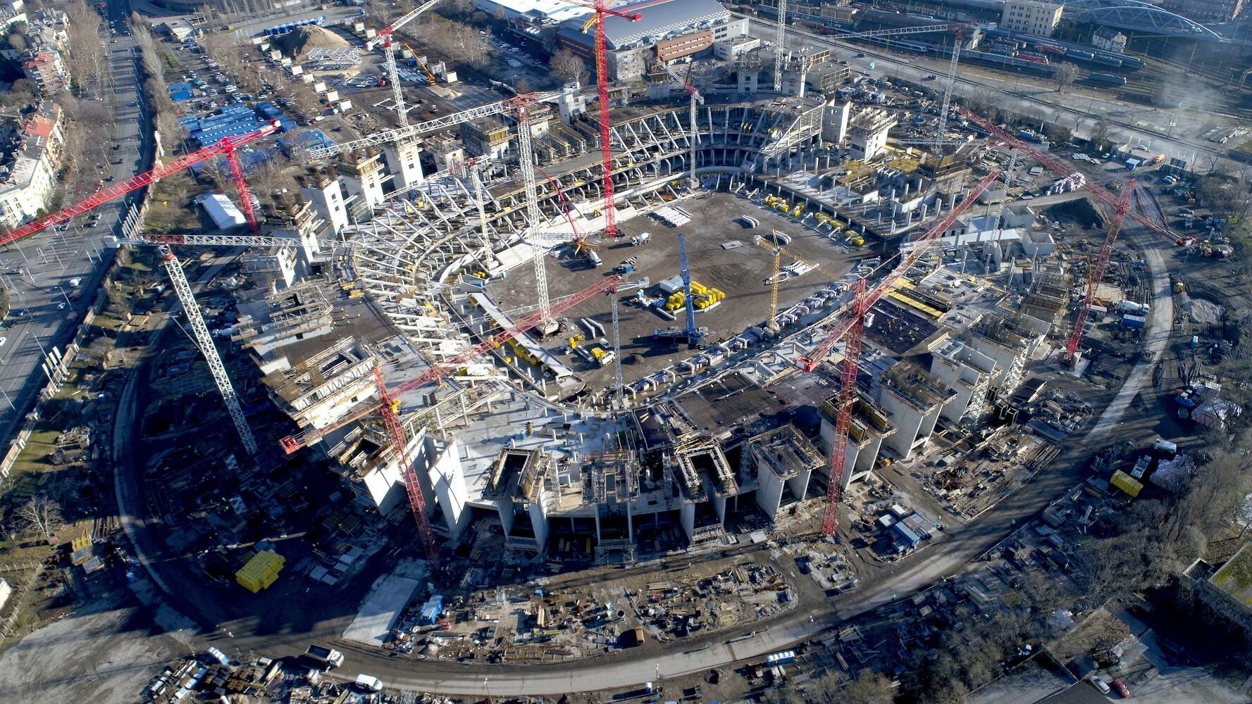 Három részletben emelik a helyére Puskás-stadion tetőszerkezetét