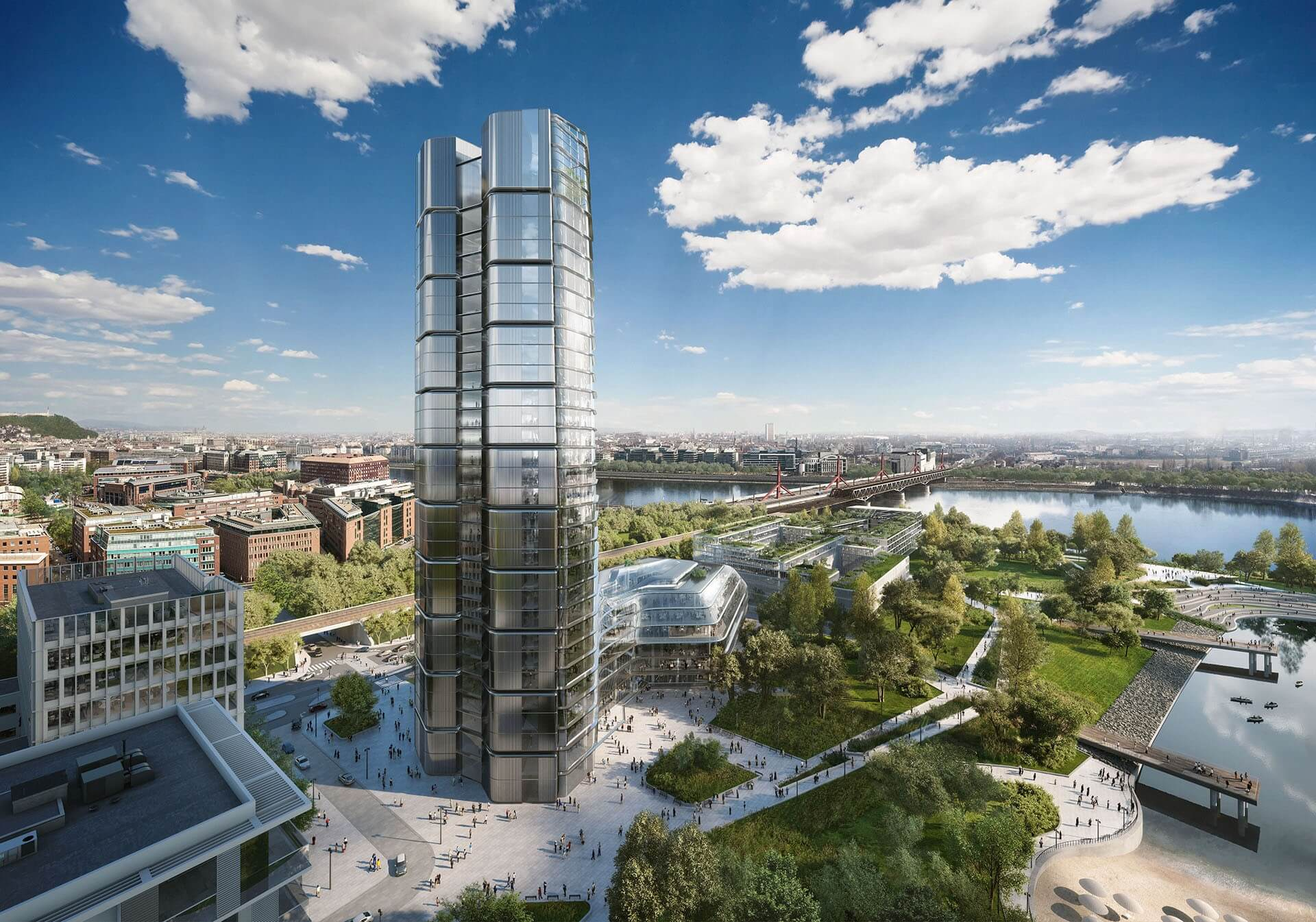 Kecskeméten ad elő a 28 emeletes MOL-Campus tervezője is