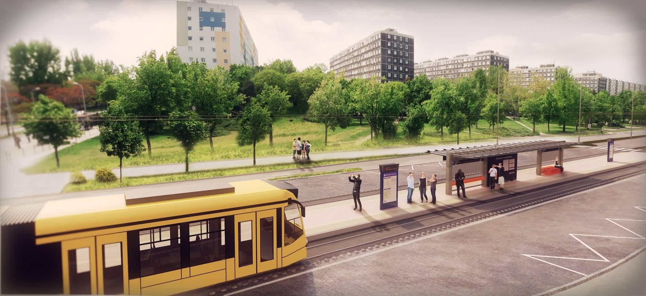 Az Etele park is megújul az 1-es villamos kelenföldi meghosszabbításával