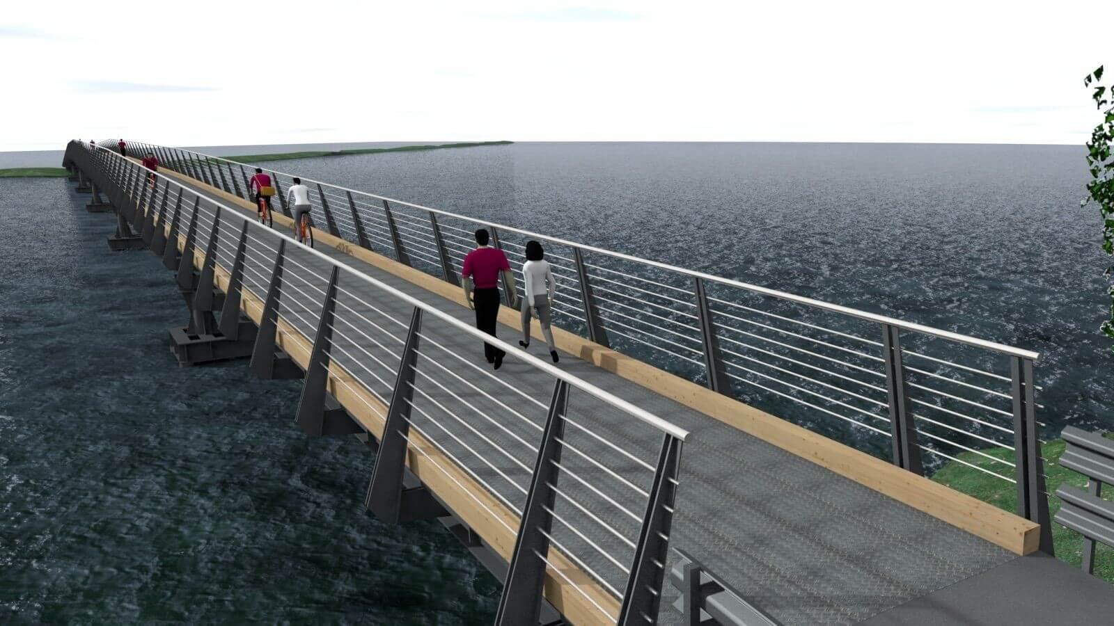 Hidakat épít a szegedi kajak-kenu pálya szigetéhez az A-Híd