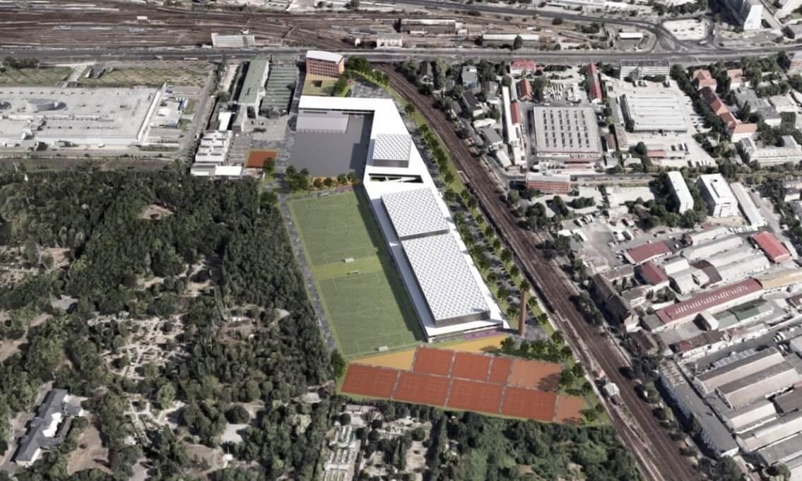 Így építik fel a Maccabi Játékok központi helyszínét