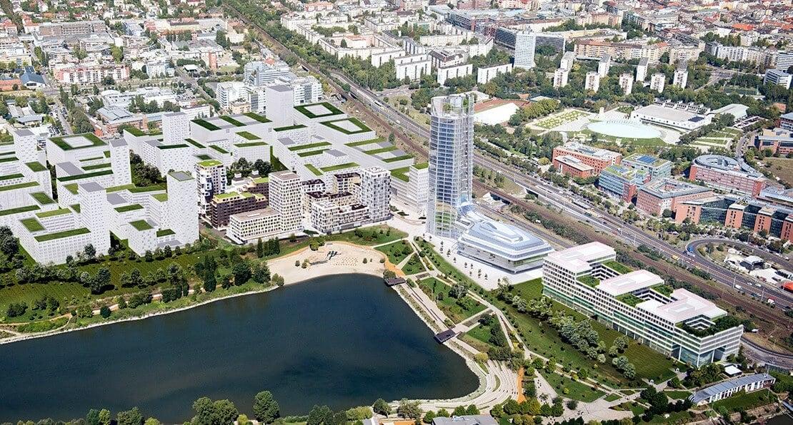 Mérföldkőhöz érkezett Budapest új városnegyedének építkezése