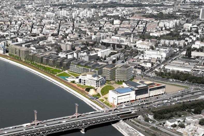 Megkezdődött a Millennium Gardens építkezése a Rákóczi-híd lábánál