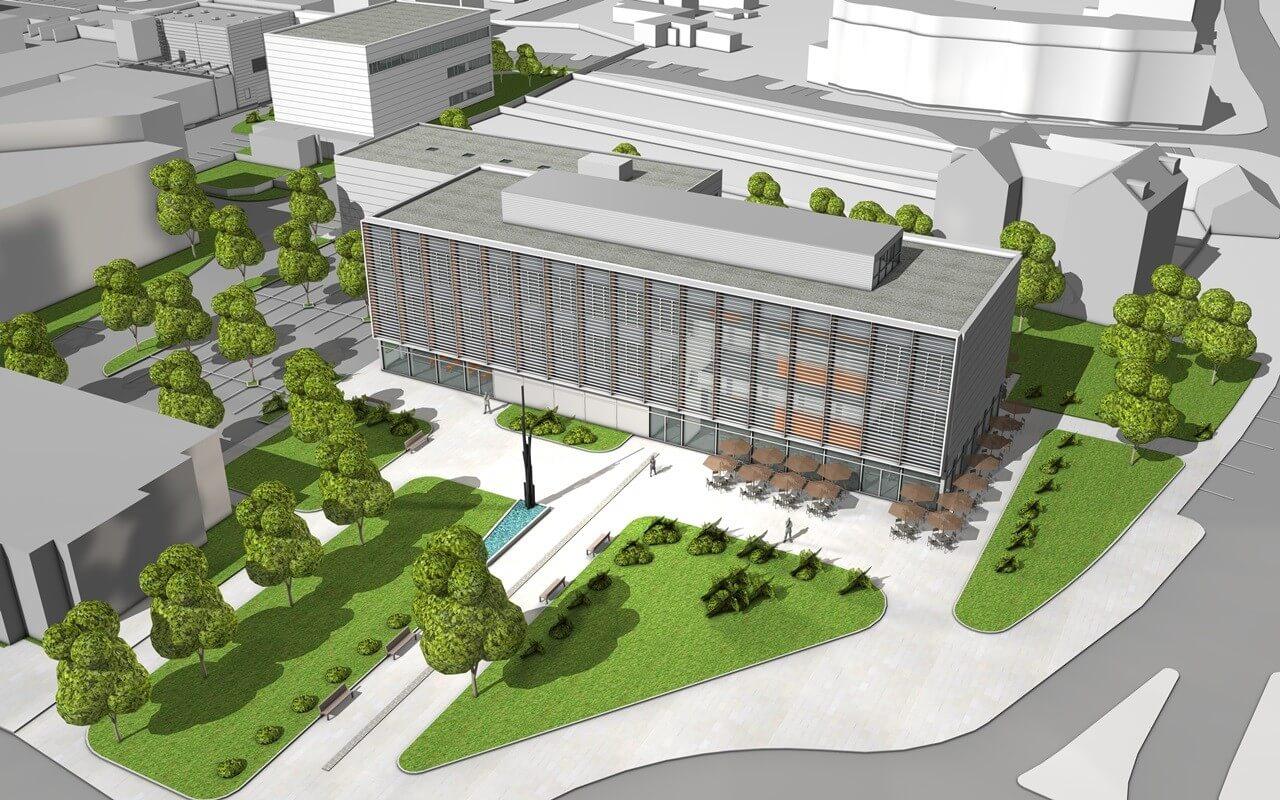Közel jár a befejezéshez a győri egyetem új innovációs központja