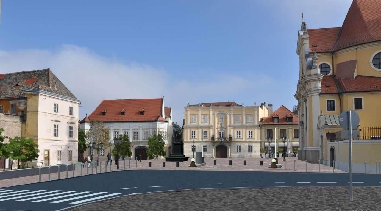 Még idén elkészül Győr belvárosának egyik legszebb tere