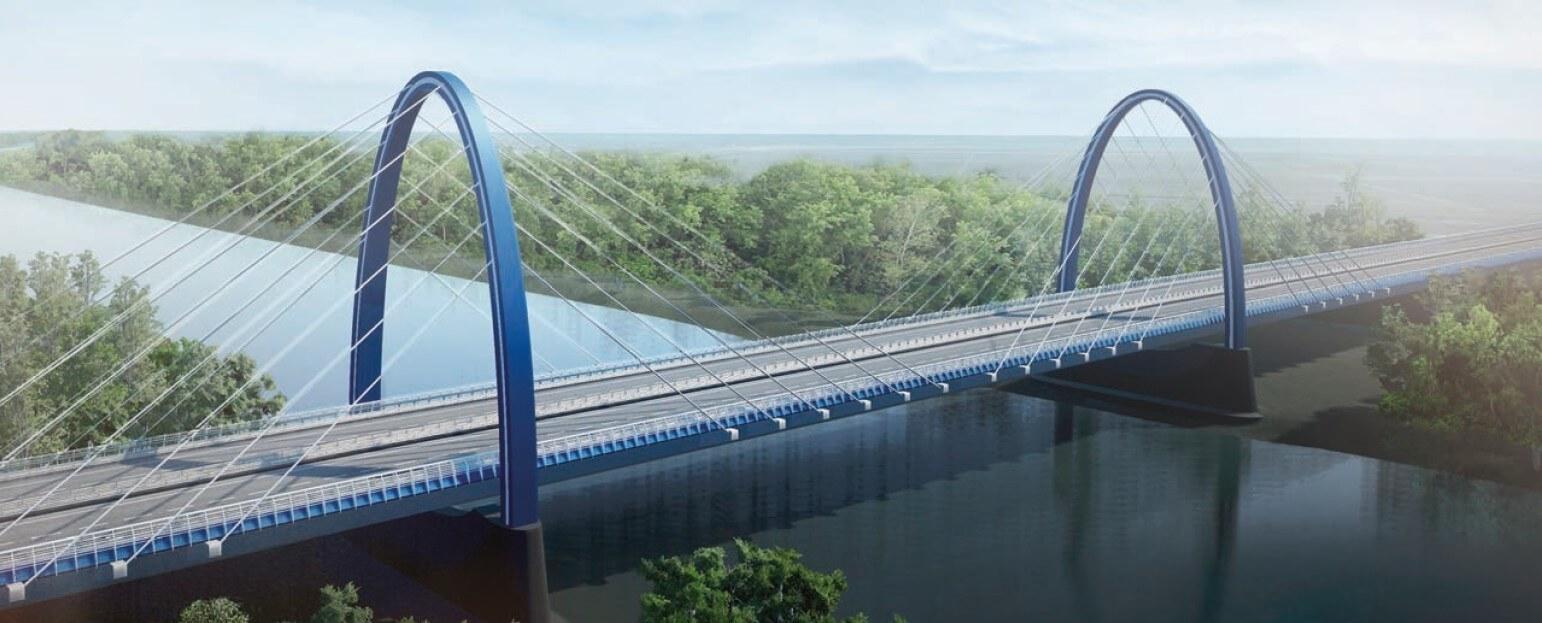 Így építi meg az M44-es új Tisza-hídját a Duna Aszfalt