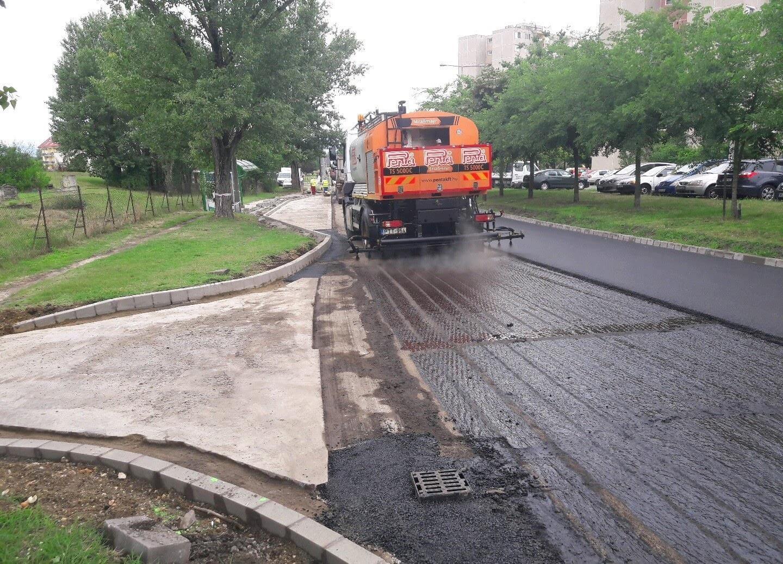 A Rákóczi úton folytatódik Dunakeszin az útfelújítás