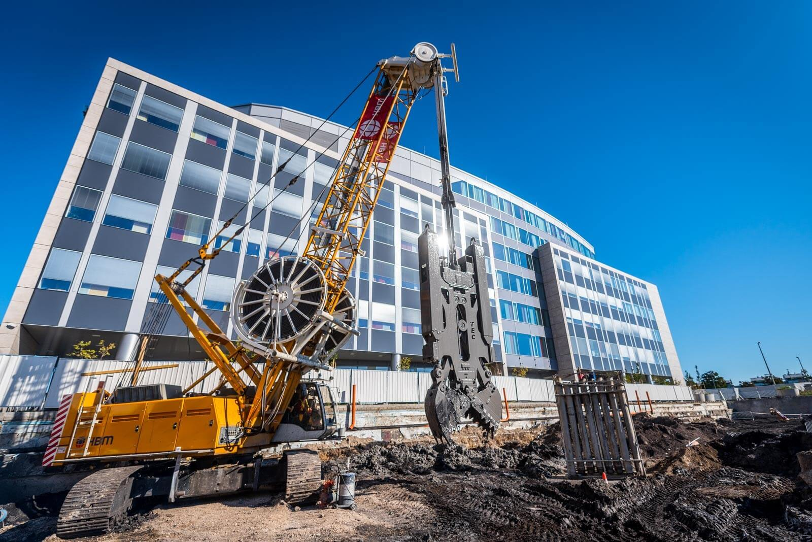 A HBM már készíti a Magyar Nobel-díjasok K+F Park második irodaházának mélyalapozását
