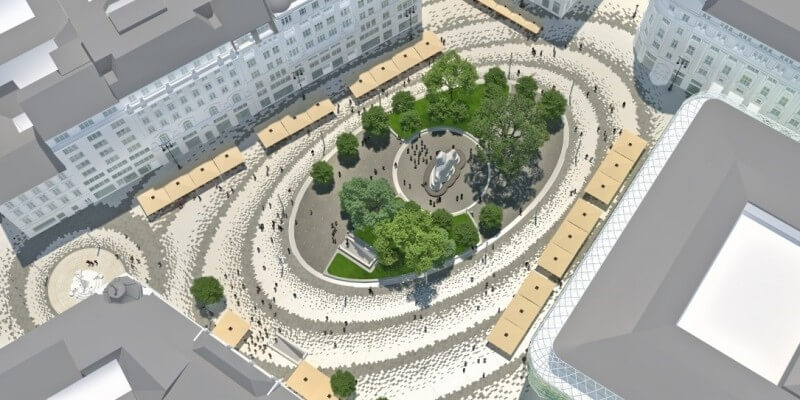 Így néz majd ki a felújított Vörösmarty és a Podmaniczky tér