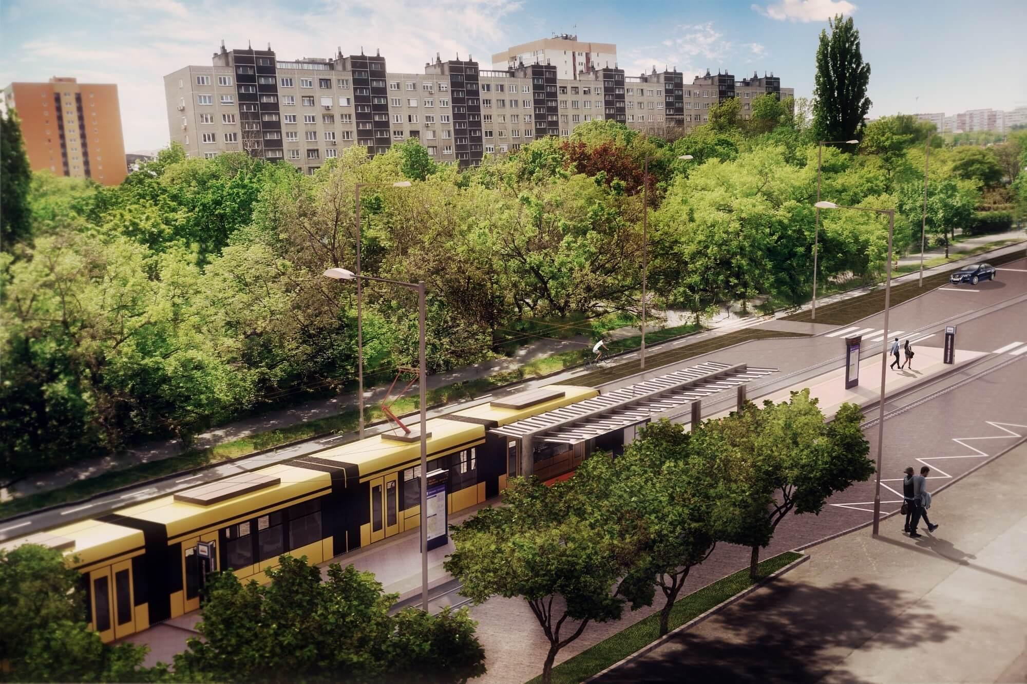 Tavaszra készül el az 1-es villamos új szakaszával a Colas Alterra és a Siemens