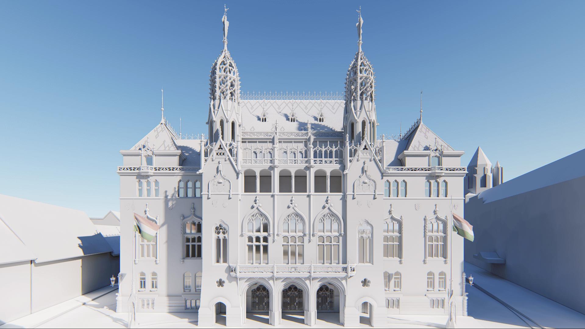 Ilyen lesz a régi-új Pénzügyminisztérium főhomlokzata a Budai Várban