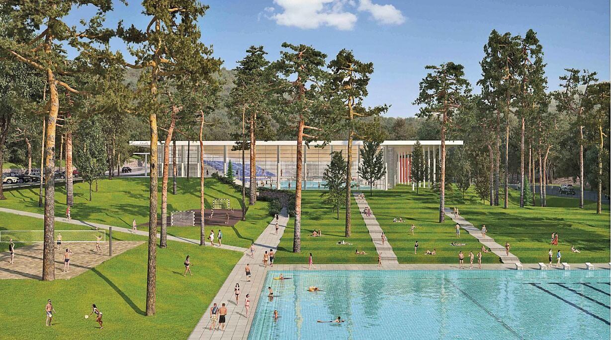 Elrajtol Sopron új uszodájának és wellnessközpontjának építkezése
