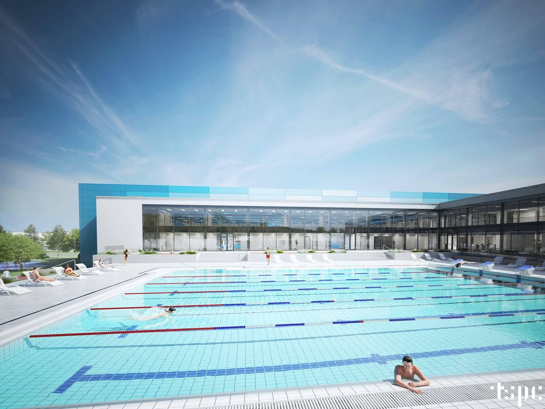 Nemzetközi sporteseményeket is tarthatnak Zalaegerszeg épülő uszodájában