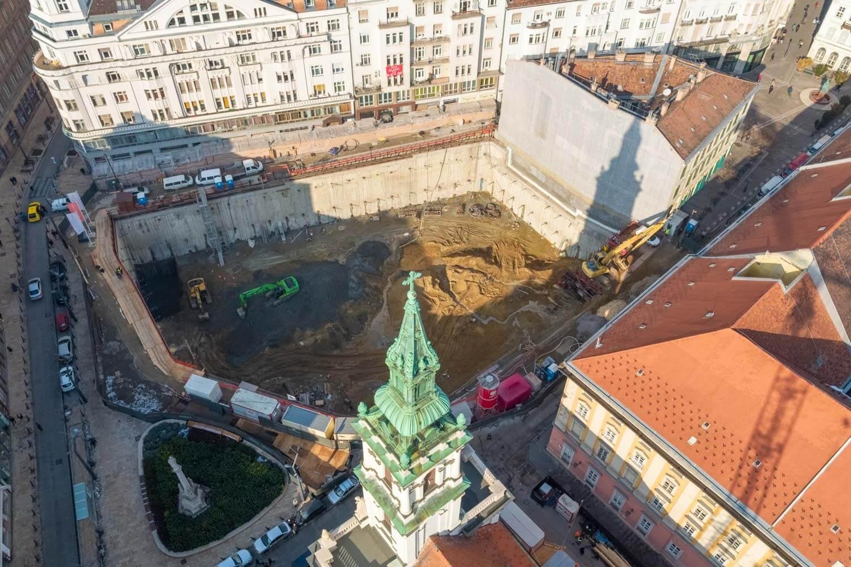 Budapest belvárosában új luxusépület van születőben
