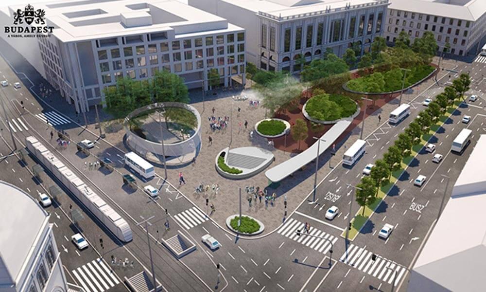 Így újul meg a pesti belváros legfontosabb közlekedési csomópontja