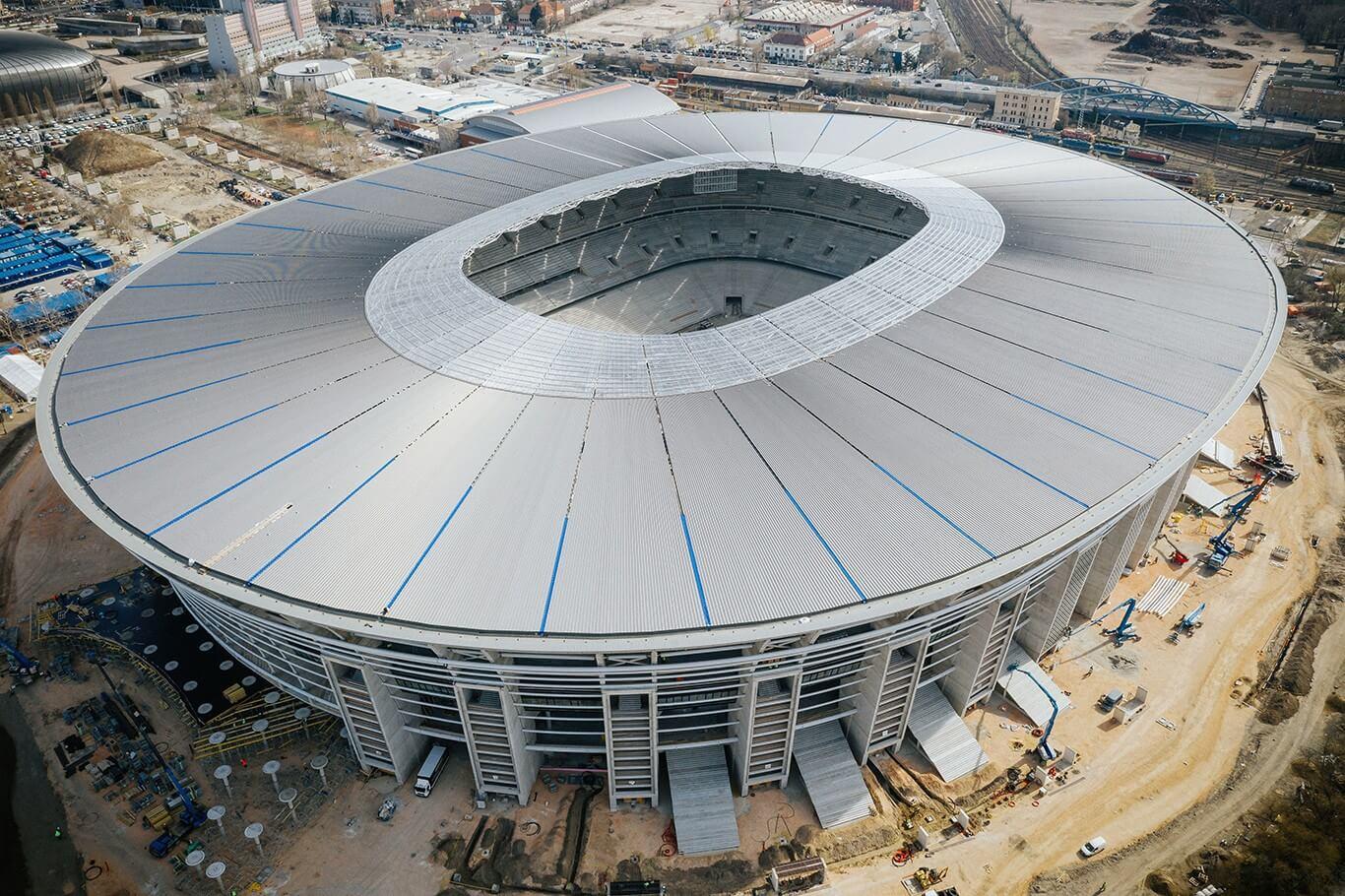 Így néz ki a befejezéshez közeledve az új Puskás-stadion - videóval és fotókkal