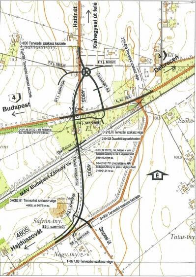 A vasútfejlesztés érintett szakasza
