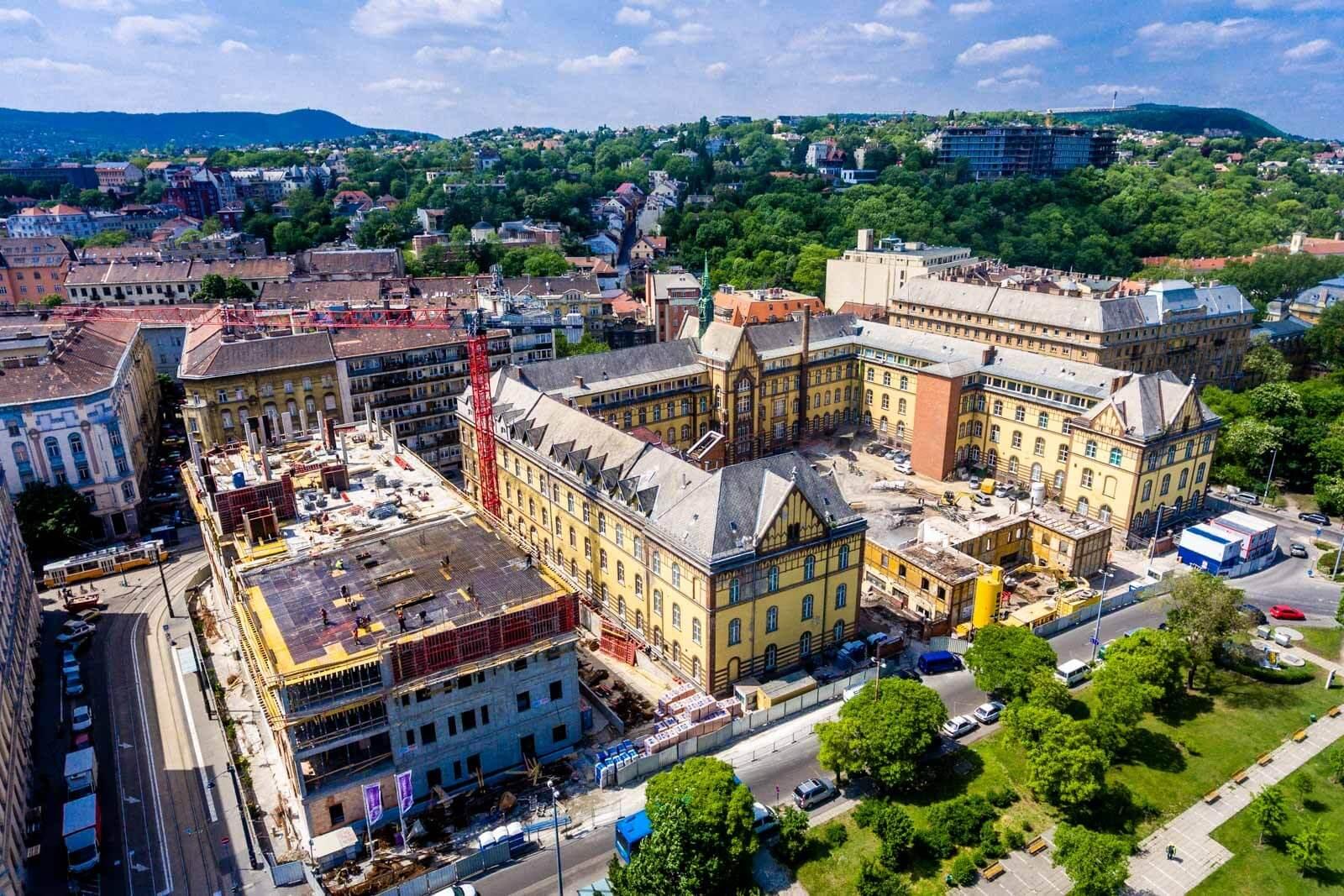 Nagy erőkkel zajlik a Budai Irgalmasrendi Kórház fejlesztése