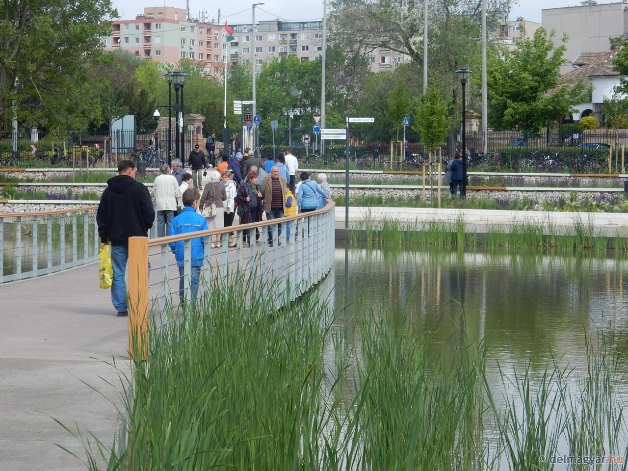 Beépítetlen területen született tóparti park Hódmezővásárhelyen