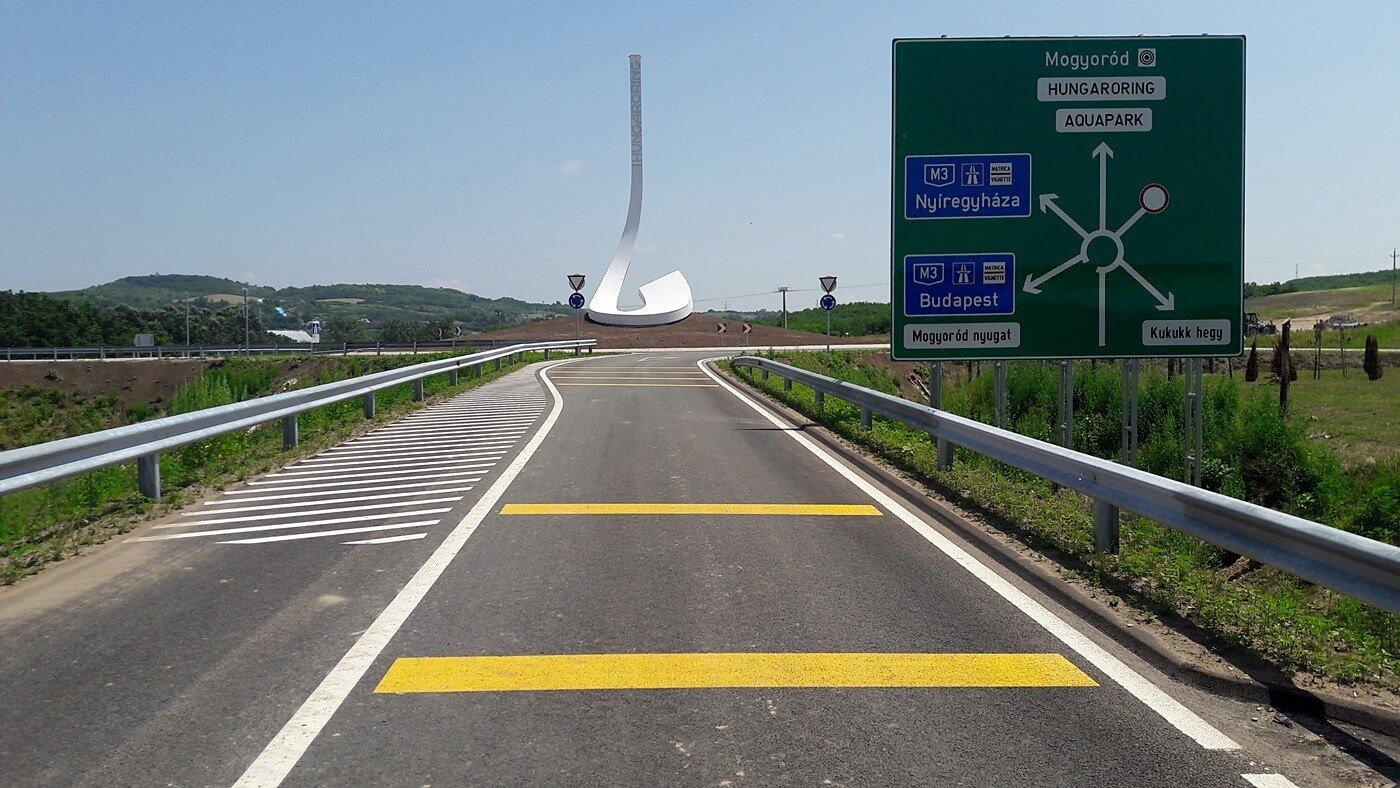 A Hungaroringet idén már az új körforgalmi csomópontról lehet megközelíteni