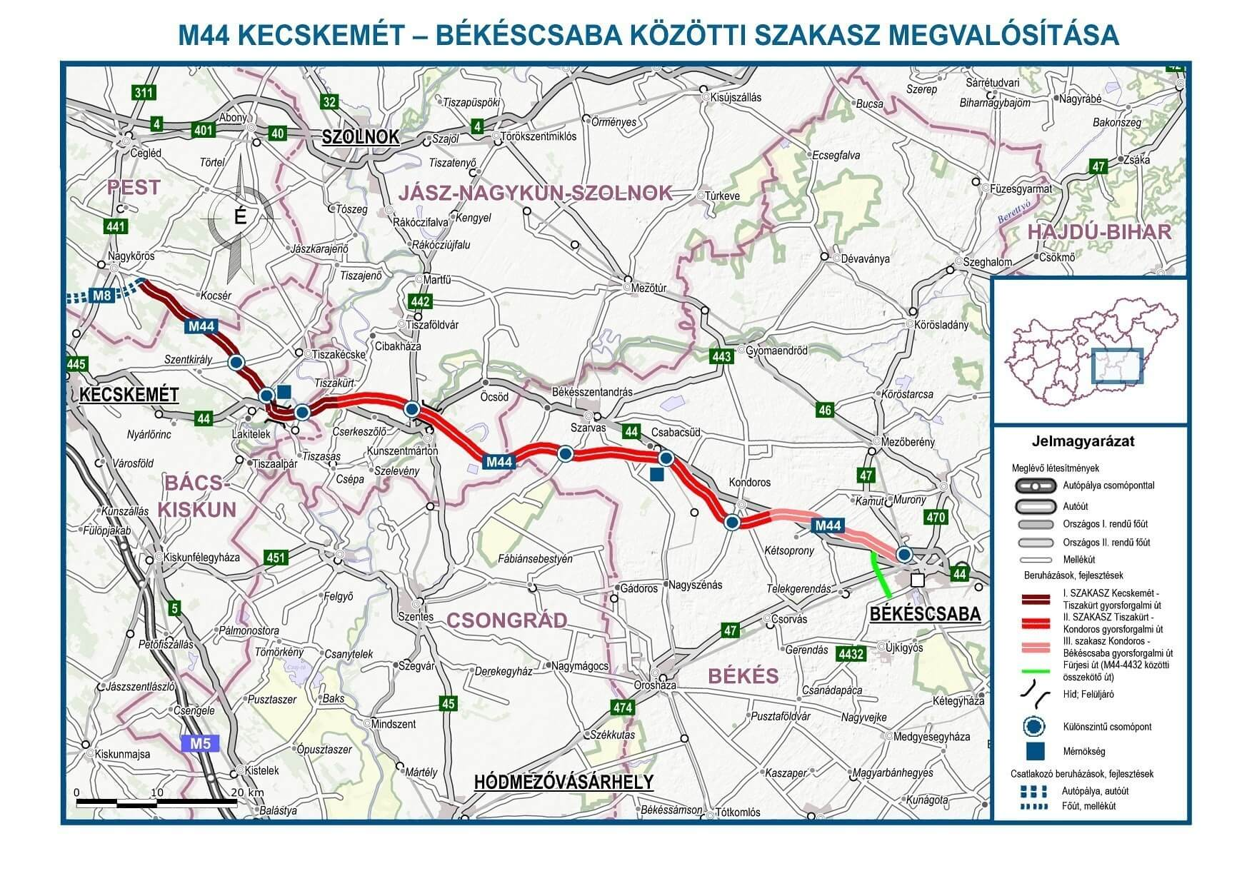 M44 Uj Megyek Kaptak Gyorsforgalmi Elerest Magyar Epitok
