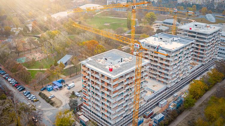 Szerkezetkész a Bikás park különleges megoldásokkal épülő új lakóparkja