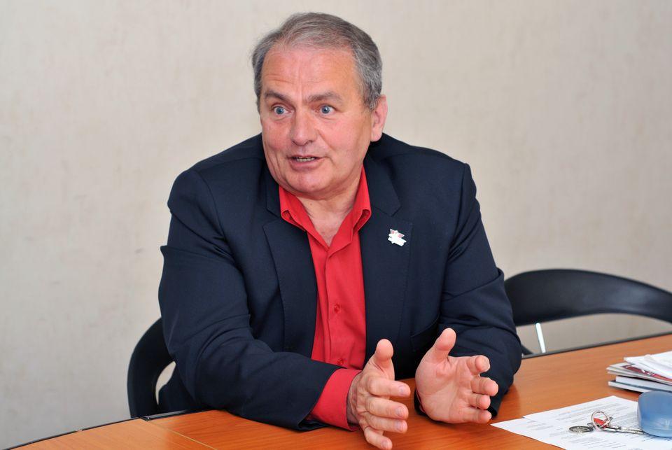 Thürmer Gyula a Magyar Munkáspárt polgármesterjelöltje Salgótarjánban