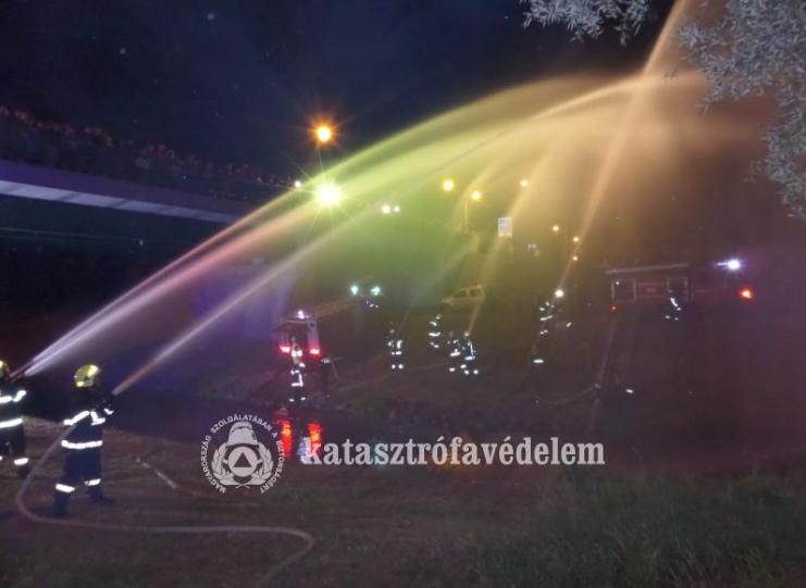 Nemzetközi Tűzoltóhidak - Vízfüggöny az Ipoly felett