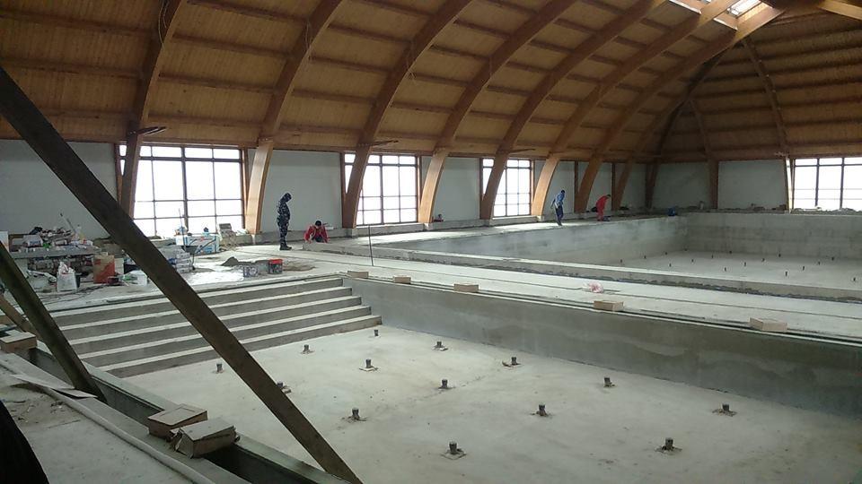 Jól halad a balassagyarmati uszoda építése