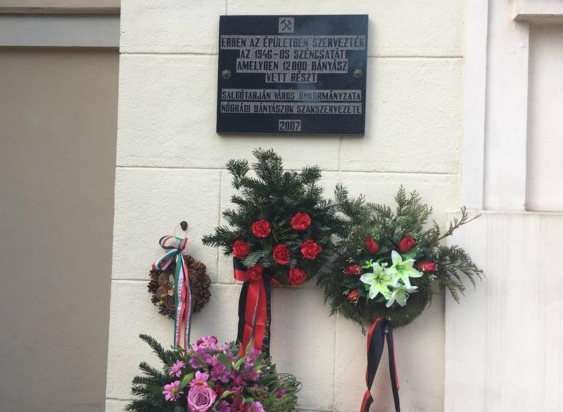 Az 1946-os széncsatára emlékezett Salgótarján