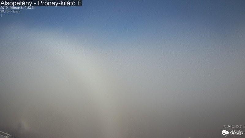 Látványos ködív Nógrád megyében