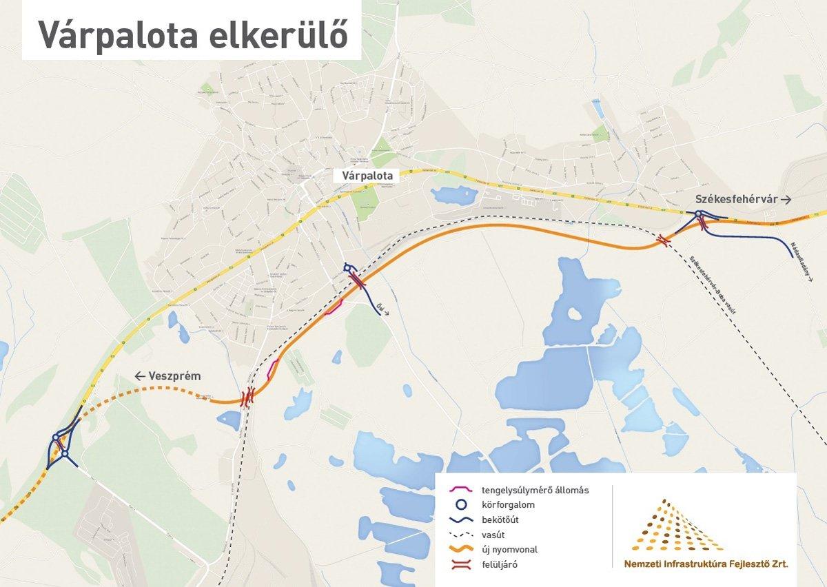 várpalota elkerülő út térkép Fontos állomáshoz érkezett a 8 as főút fejlesztése | Magyar Építők