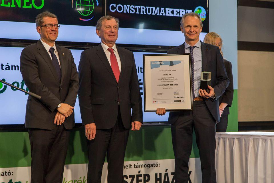 Bontás nélküli vízszigetelővel nyert Construma díjat a Mapei Kft.