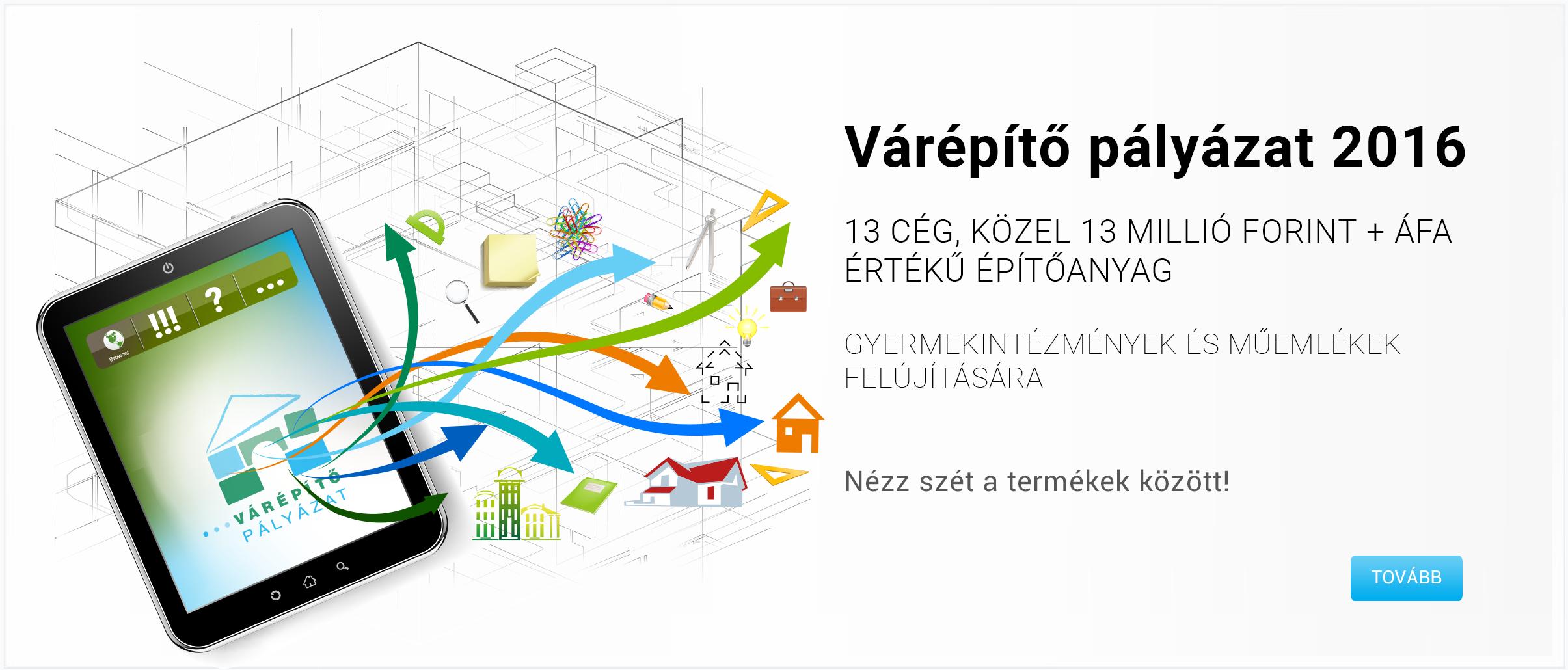 Várépítő pályázat Budaörsön: 13 millió Ft értékű építőanyag vár gazdára