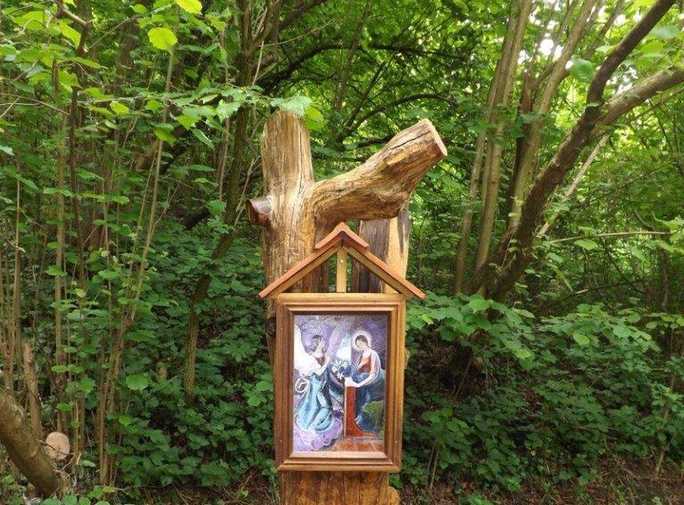 Új Mária képpel gazdagodott a Pilismaróti Erdészet területén található Csurgó-kút