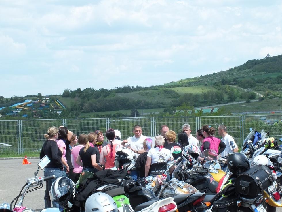 Motoros rendőrök tréningeztek a Hungaroringen
