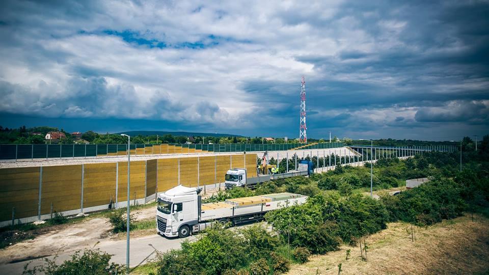 A Duna Aszfalt elkezdte az érdi zajárnyékolók kiépítését