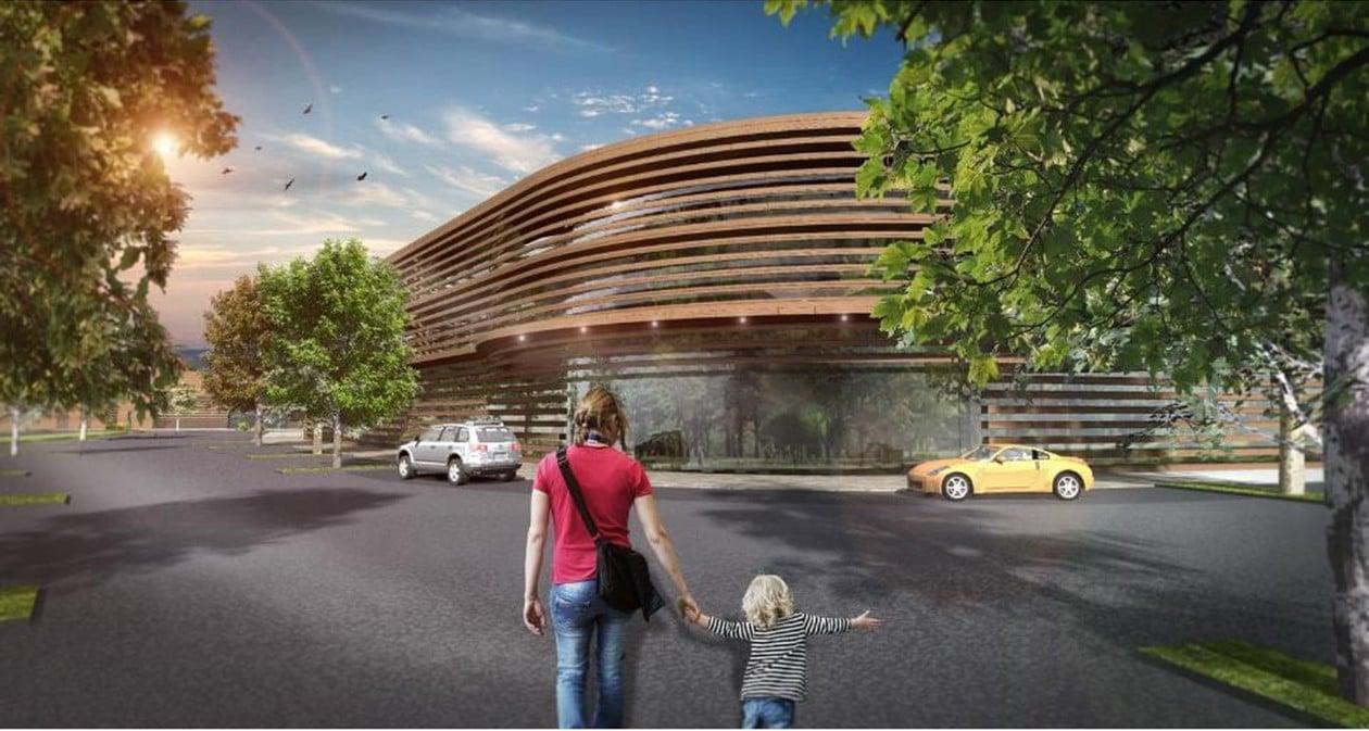 Egy cseresznyefa segíti új sportkomplexumhoz Solymárt